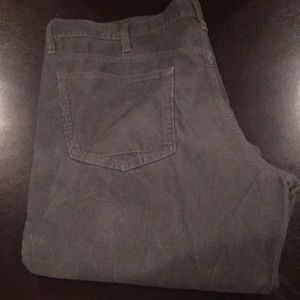 Men's Grey corduroy pants 38x30